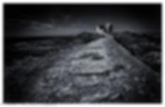 quiberon cote sauvage, pointe du percho, noir et blanc intense art