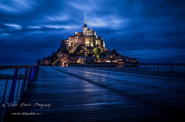 Mont St Michel, Blue Hour,