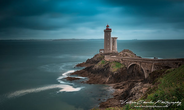 Phare du Petit Minou, Bretagne , France , Serie Bretagne in a blue dress
