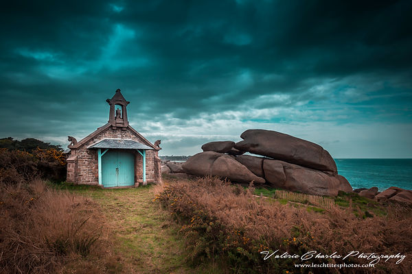 ploumanach chapel before the storm,pop, bretagne, france