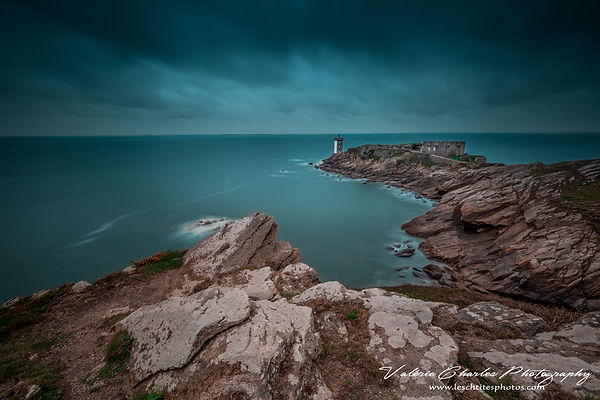"Pointe de Kermorvan, Bretagne, France, serie ""bretagne in a blue dress"""