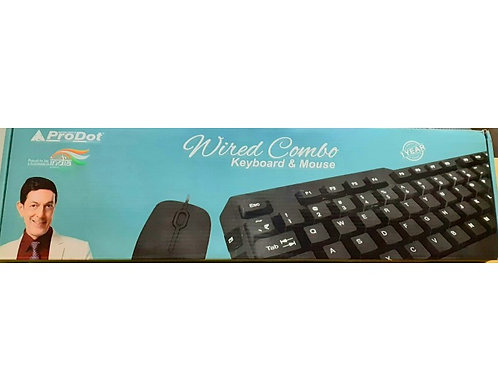 PRODOT KEYBORD MOUSE COMBO WIRED