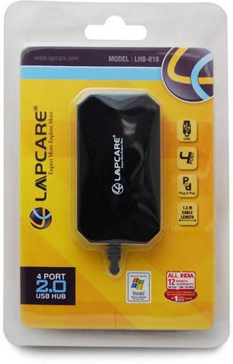 Lapcare LHB 018 4-Port USB 2.0 Hub