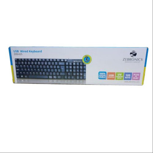 Zebronics K25 Standard Keyboard with USB Input