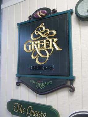 Greer Designs Carved Sign