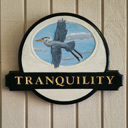 Tranquilty Carved Sign