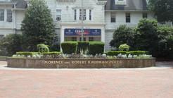 Raised Bronze Letters on Brick & Banner