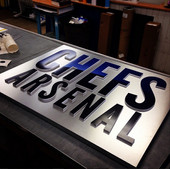 Chefs Arsenal w/ Raised Letters