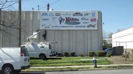 Marina Italian Ices 50ft Aluminum Sign