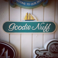 Goodie Nuff Carved Sign