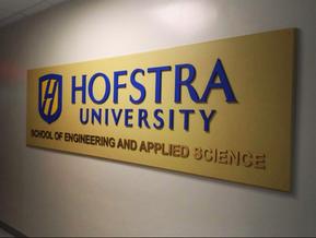 Hofstra Raised Letters