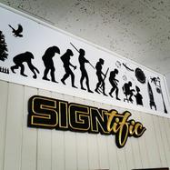 Signtific Carved Sign & Vinyl