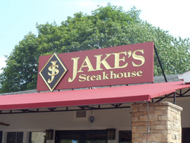 Jakes Steakhouse Carved Sign 1