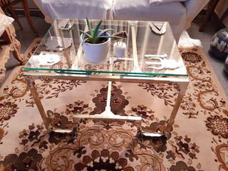 Τραπέζι από ορείχαλκο & ανοξείδωτο