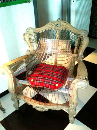 Ανακατασκευασμένη παλιά πολυθρόνα
