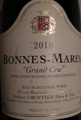 Bonnes Mares Grand Cru 2010 GROFFIER Rouge