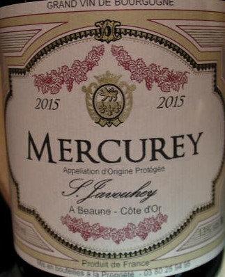 Mercurey 2015 S.JAVOUHEY Rouge
