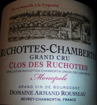 "Ruchottes-Chambertin Grand Cru ""Clos Ruchottes"" Monopole 1999 A.ROUSSEAU Rouge"