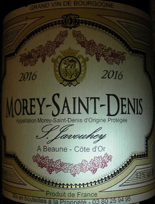 Morey-Saint-Denis 2016 S.JAVOUHEY Rouge