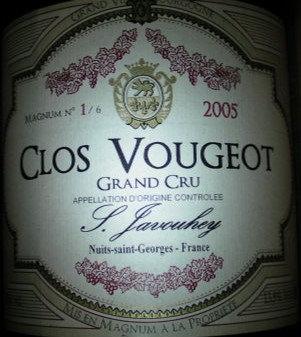 Clos Vougeot Grand Cru Magnum 2005 S.JAVOUHEY Rouge