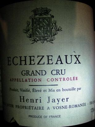 Echézeaux Grand Cru 1989 Henri JAYER Rouge