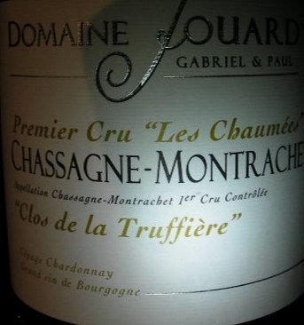 """Chassagne-Montrachet 1er Cru """"Les Chaumées"""" 2015 JOUARD G&P Blanc"""