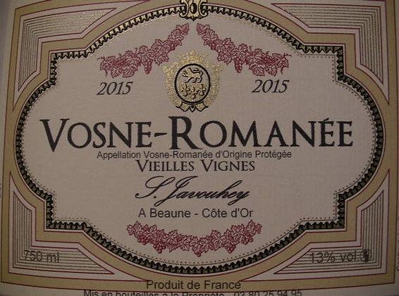"""Vosne-Romanée """"Vieilles Vignes"""" 2015 S.JAVOUHEY Rouge"""