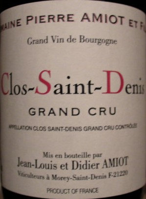 Clos Saint Denis Grand Cru 2009 AMIOT Rouge