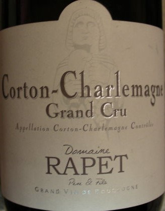 Corton-Charlemagne Grand Cru 2014 RAPET Blanc