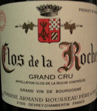 Clos de la Roche Grand Cru 2010 A.ROUSSEAU Rouge