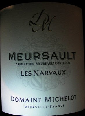 "Meursault ""Narvaux"" 2017 MICHELOT Blanc"