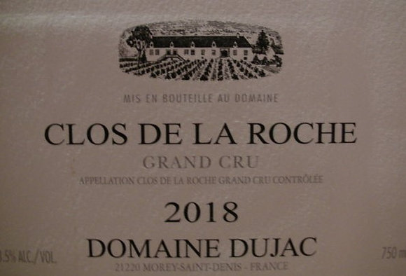 Clos de la Roche Grand Cru 2018 DUJAC Rouge