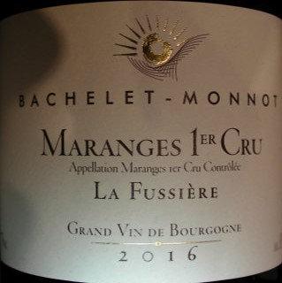 """Maranges 1er Cru """"Clos de la Fussière"""" 2016 BACHELET-MONNOT Rouge"""