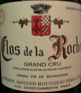 Clos de la Roche Grand Cru 2012 A.ROUSSEAU Rouge