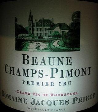 """Beaune 1er Cru """"Champs Pimont"""" 2015 J.PRIEUR Rouge"""