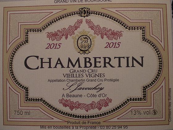 """Chambertin Grand Cru """"Vieilles Vignes"""" 2015 S.JAVOUHEY Rouge"""