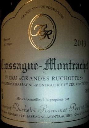 "Chassagne-Montrachet 1er Cru ""Grande Ruchotte"" 2013 BACHELET-RAMONET Blanc"