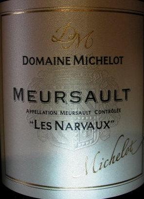 "Meursault ""Narvaux"" 2016 MICHELOT Blanc"