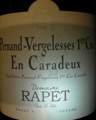 "Pernand-Vergelesses 1er Cru ""En Caradeux"" 2015 RAPET Blanc"