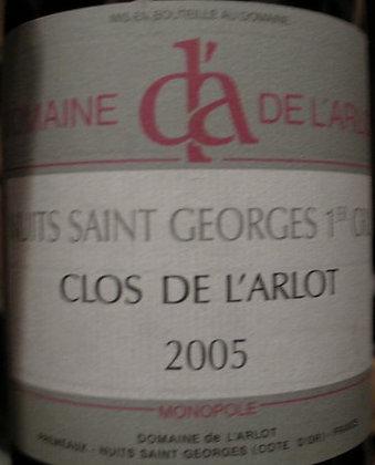"""Nuits-Saint-Georges 1er Cru """"Clos de l'Arlot"""" 2005 Dne de l'Arlot Rouge"""