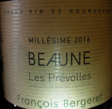 "Beaune ""Prévolles"" 2016 BERGERET Blanc"