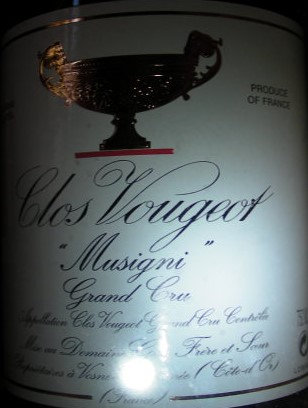 """Clos Vougeot Grand Cru """"Musigni"""" 2005 GROS Rouge"""
