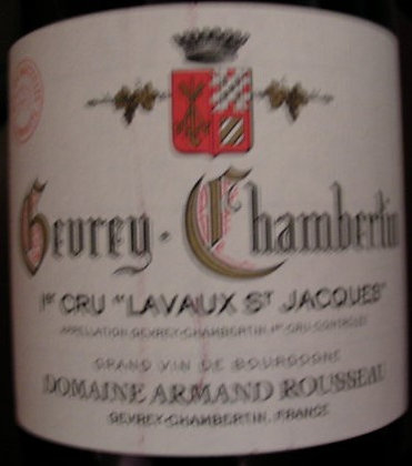 "Gevrey-Chambertin 1er Cru ""Lavaux St-Jacques"" 2016 A.ROUSSEAU Rouge"