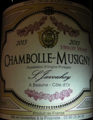 """Chambolle-Musigny """"Vieilles Vignes"""" 2015 S.JAVOUHEY Rouge"""