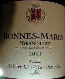 Bonnes Mares Grand Cru 2011 GROFFIER Rouge