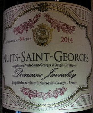 Nuits-Saint-Georges Magnum 2014 JAVOUHEY Rouge