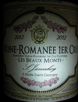 """Vosne-Romanée 1er Cru """"Les Beaux Monts"""" 2012 S.JAVOUHEY Rouge"""