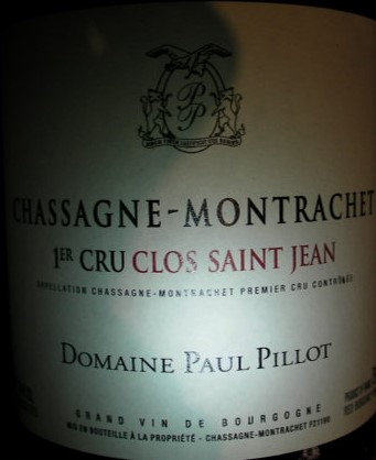 "Chassagne-Montrachet 1er Cru ""Clos Saint-Jean"" 2015 Paul PILLOT Rouge"