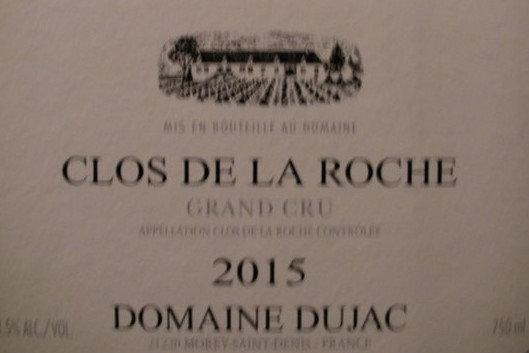 Clos de la Roche Grand Cru 2015 DUJAC Rouge
