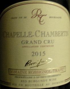 Chapelle-Chambertin Grand Cru 2015 ROSSIGNOL-TRAPET Rouge